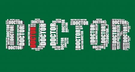 word art: m�dico de la tipograf�a 3d texto de la palabra arte m�dico ilustraci�n nube de palabras
