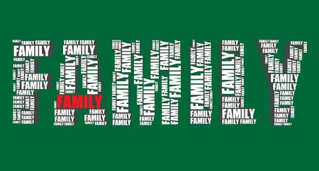 word art: familia tipograf�a 3d texto de la palabra del arte del ejemplo familiar nube de palabras