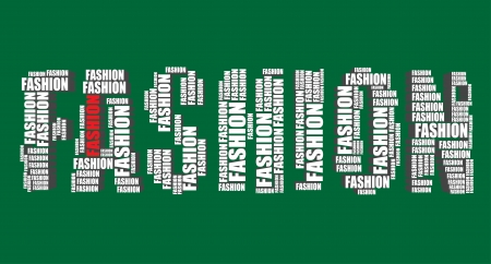 fashion typography 3d text word art illustration fashion word cloud Vector