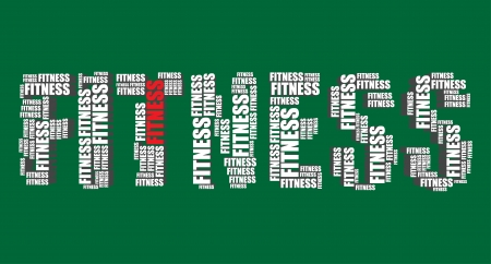 word art: fitness typography 3d text word art fitness illustration word cloud