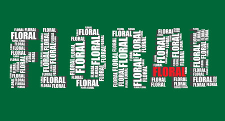 word art: floral typography 3d text word art