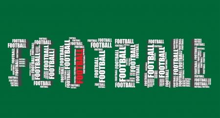 word art: football typography 3d text word art football illustration  word cloud
