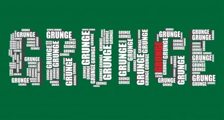 word art: grunge typography 3d text word art illustration grunge word cloud