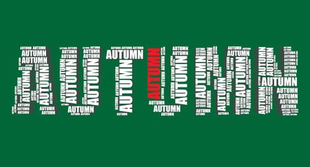 word art: autumn typography 3d text word art autumn illustration word cloud