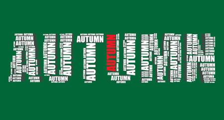 word art: oto�o tipograf�a 3d texto word art oto�o ilustraci�n nube de palabras