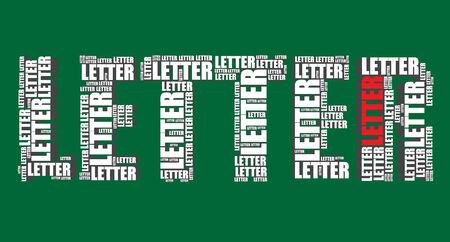 word art: Carta de la tipograf�a 3d texto word art vector carta ilustraci�n nube de palabras