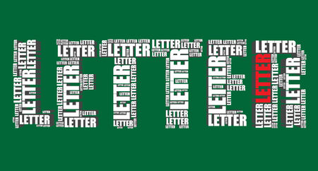 word art: letter typography 3d text word art vector letter illustration word cloud