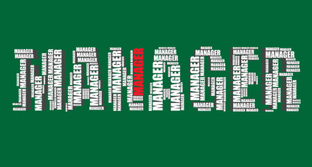 3d manager: manager typography 3d text word art manager illustration word cloud