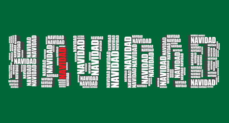 word art: navidad typography 3d text word art vector illustration navidad word cloud