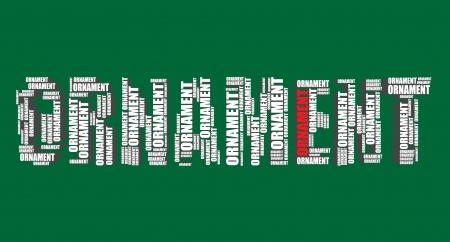 word art: ornament typography 3d text word art illustration ornament word cloud
