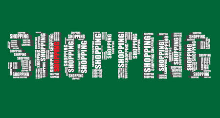 word art: Cesta de la tipograf�a 3d texto de la palabra arte abstracto palabra comercial nube