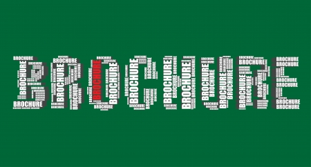 word art: brochure typography 3d text word art brochure illustration word cloud