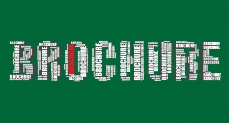 word art: folleto de la tipograf�a 3d texto word art folleto ilustraci�n nube de palabras