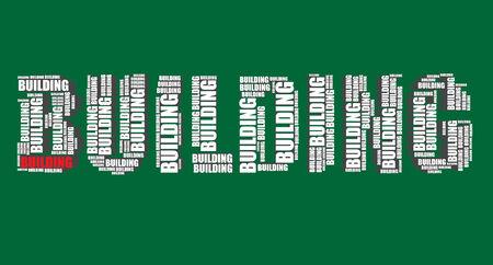 word art: la construcci�n de la tipograf�a 3d texto word art edificio ilustraci�n nube de palabras