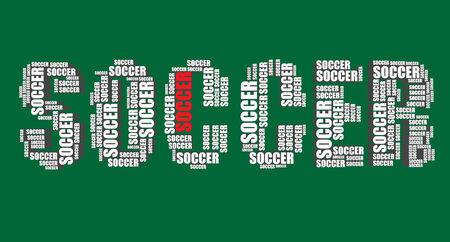 word art: soccer typography 3d text word soccer art
