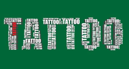 tatouage art: tatouage typographie 3d texte mot tatouage art