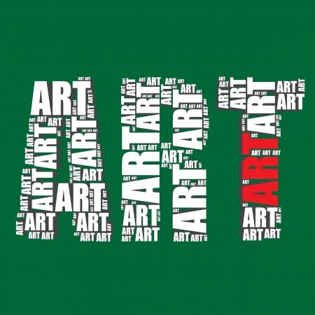 word art: arte de la tipograf�a 3d arte arte de la palabra de texto Vectores
