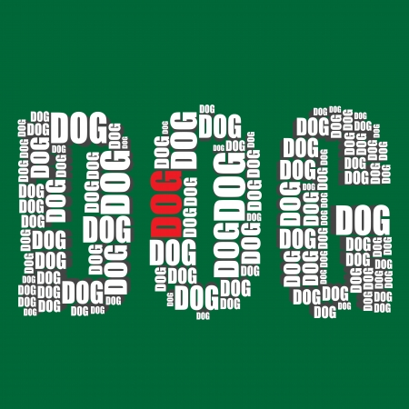 dog typography 3d text word dog art Vector