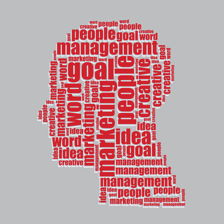 word art: goal typography 3d text word art goal vector illustration word cloud