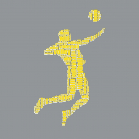word art: voleibol de la tipograf�a 3d texto word art voleibol ilustraci�n vectorial nube de palabras