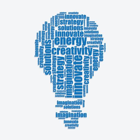 word art: energy typography 3d text word art energy vector illustration word cloud  Illustration