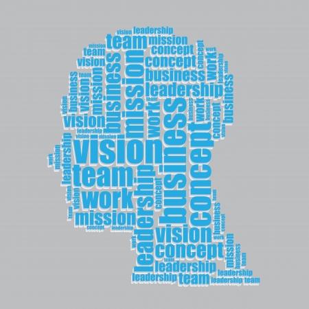 word art: la visi�n de la tipograf�a 3d texto palabra visi�n del arte ilustraci�n vectorial nube de palabras