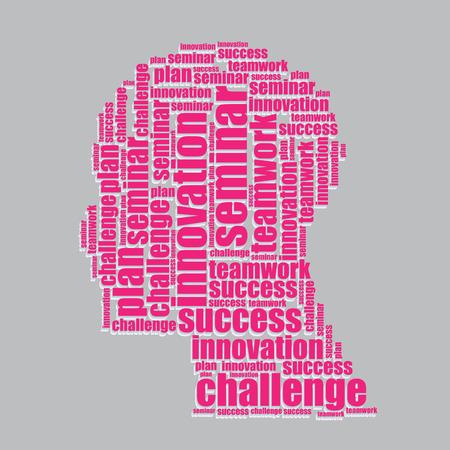 word art: invitation typography 3d text word art invitation vector illustration word cloud