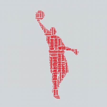 word art: basketball typography 3d text word art basketball vector illustration word cloud