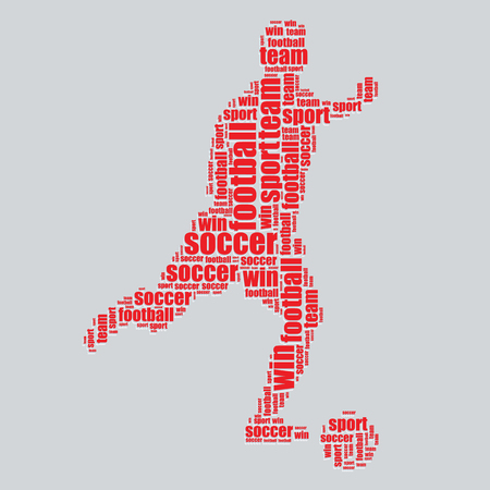 word art: football typography 3d text word art football vector illustration word cloud