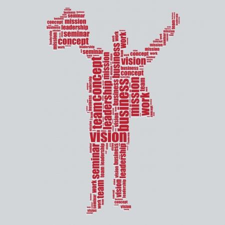 concept typography 3d text word art concept vector illustration word cloud  Vector