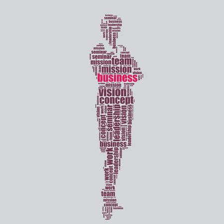 word art: negocio tipograf�a texto 3d arte de la palabra negocio ilustraci�n nube de palabras