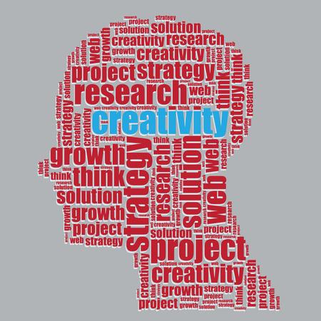 word art: creative typography 3d text word art creative vector illustration word cloud