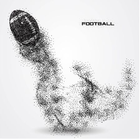 football ball of a silhouette from particle.