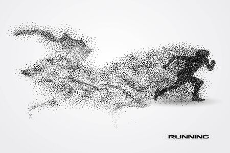 running of a silhouette from particle.