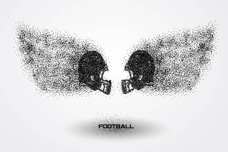 football helmet of a silhouette from particle.