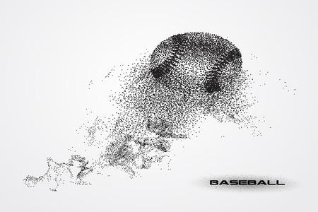 Balle de baseball d'une silhouette à partir de particules. Banque d'images - 72751614