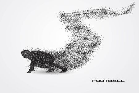 football player of a silhouette from particle.