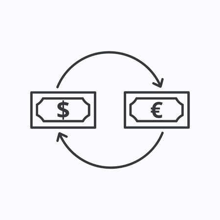 Exchange concept line icon. Simple element illustration. Exchange concept outline symbol design. Can be used for web and mobile UI/UX Zdjęcie Seryjne - 134558742
