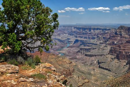 panoramic view of grand canyon and colorado river, arizona, usa