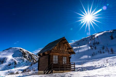 montagnes enneigées des alpes françaises, france Banque d'images