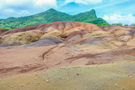 view on Seven Coloured Earth on Chamarel, Mauritius island