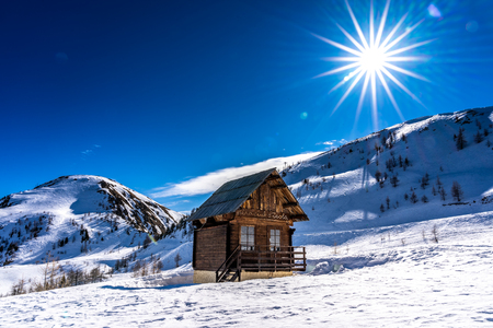 snowy mountains of french alps, france Banque d'images
