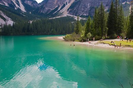 Braies Lake torquoise water