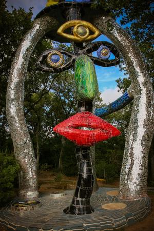 Majolica sculptures in the Tarot Garden near Capalbio # 5
