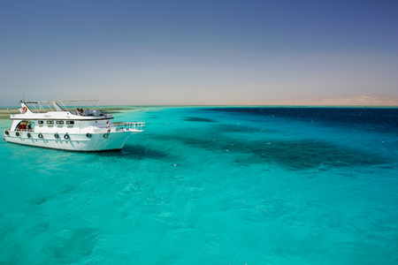 Clear and turquoise sea in the Ras Mohamed nature reserve Editorial