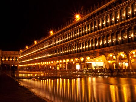 the place is important: Venice by night, Italy