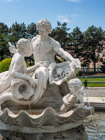 familiy: Familiy made out of marble, Vienna, Austria