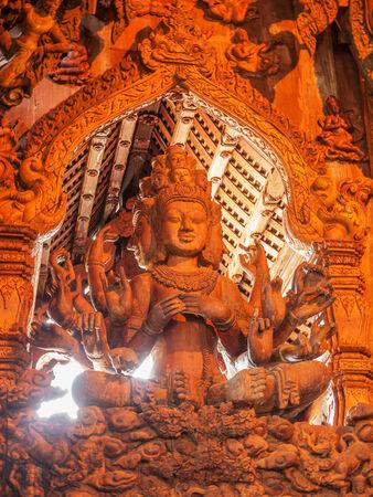Wooden statue, Thailand photo