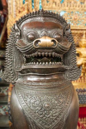 Figure in the royal palace of Bangkok, Thailand