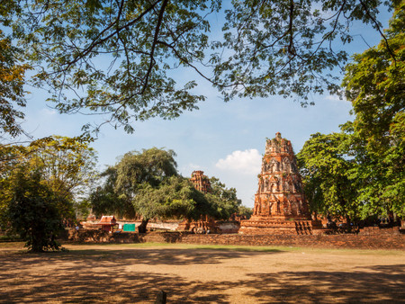 complex: Temple complex in Ayutthaya Thailand Stock Photo